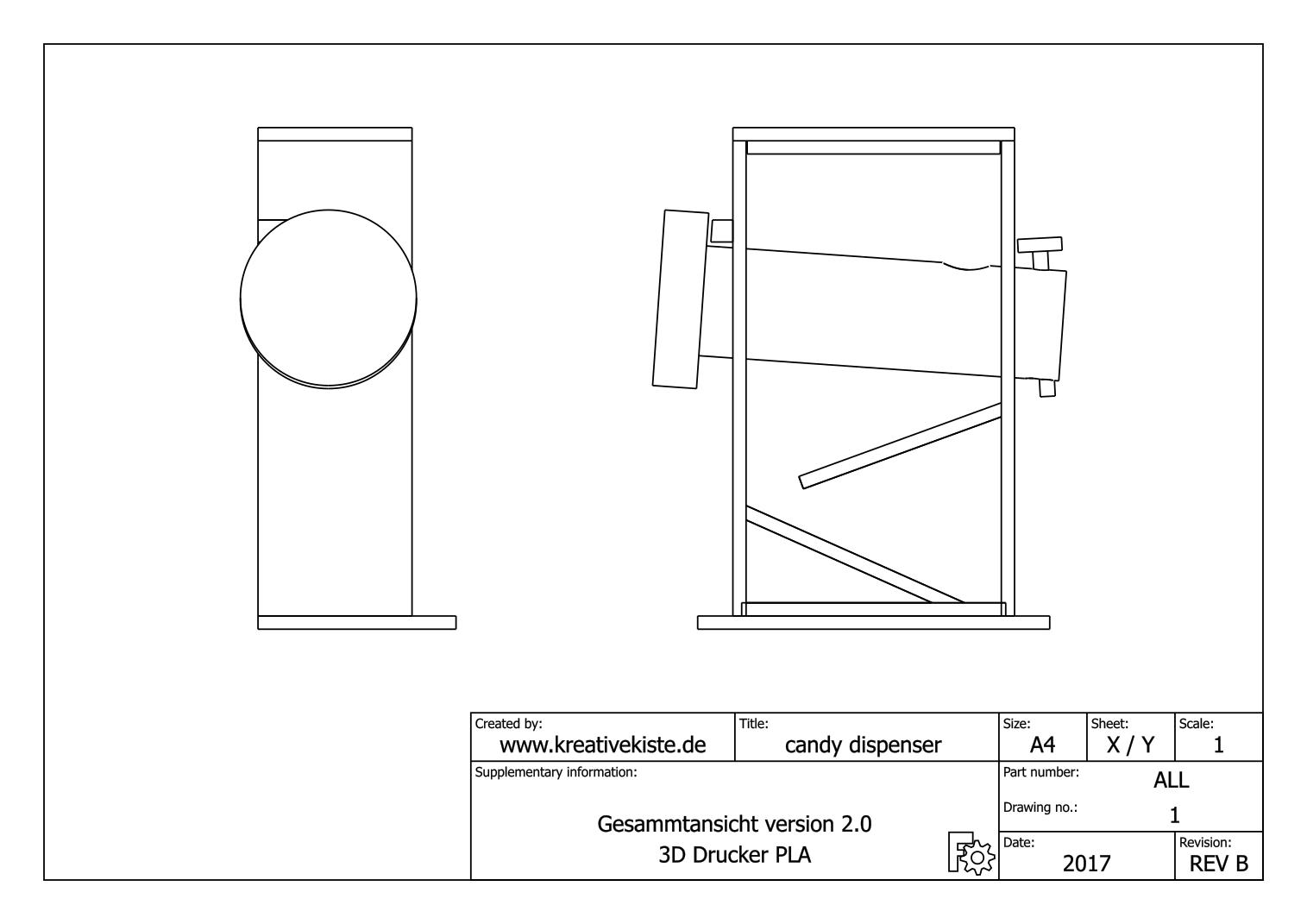 3d candy dispenser. Black Bedroom Furniture Sets. Home Design Ideas