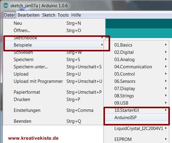 arduino beispiele attiny 45 44 84 85 - Arduino Beispiele