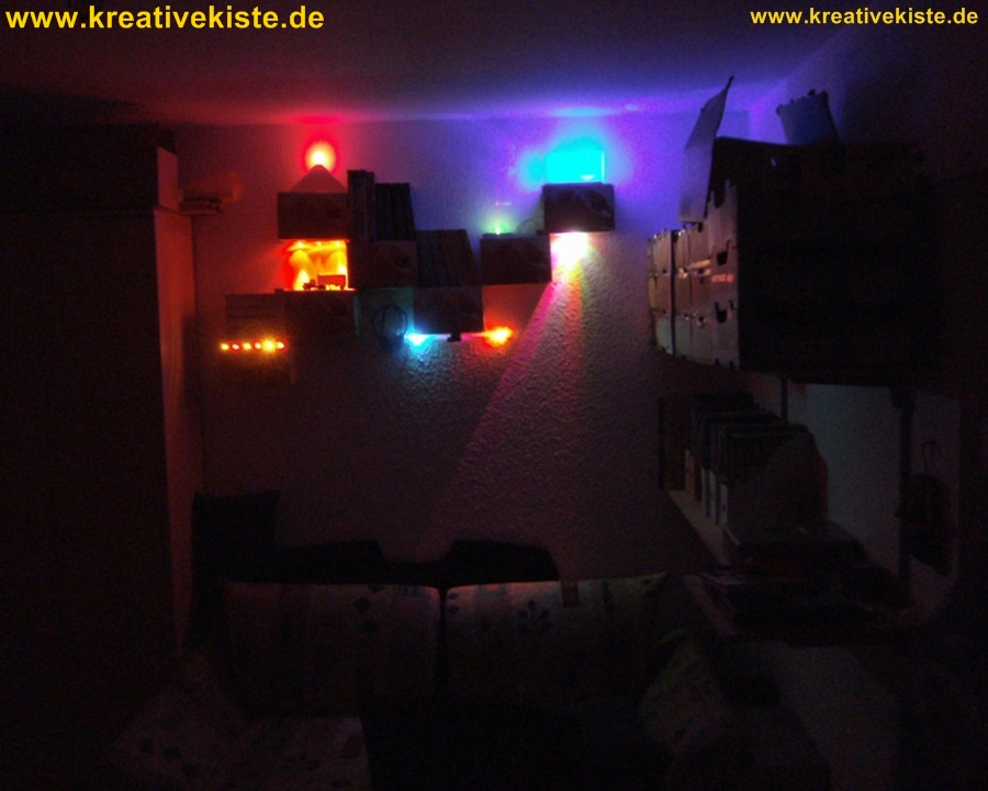 kreative led lampen selber bauen. Black Bedroom Furniture Sets. Home Design Ideas