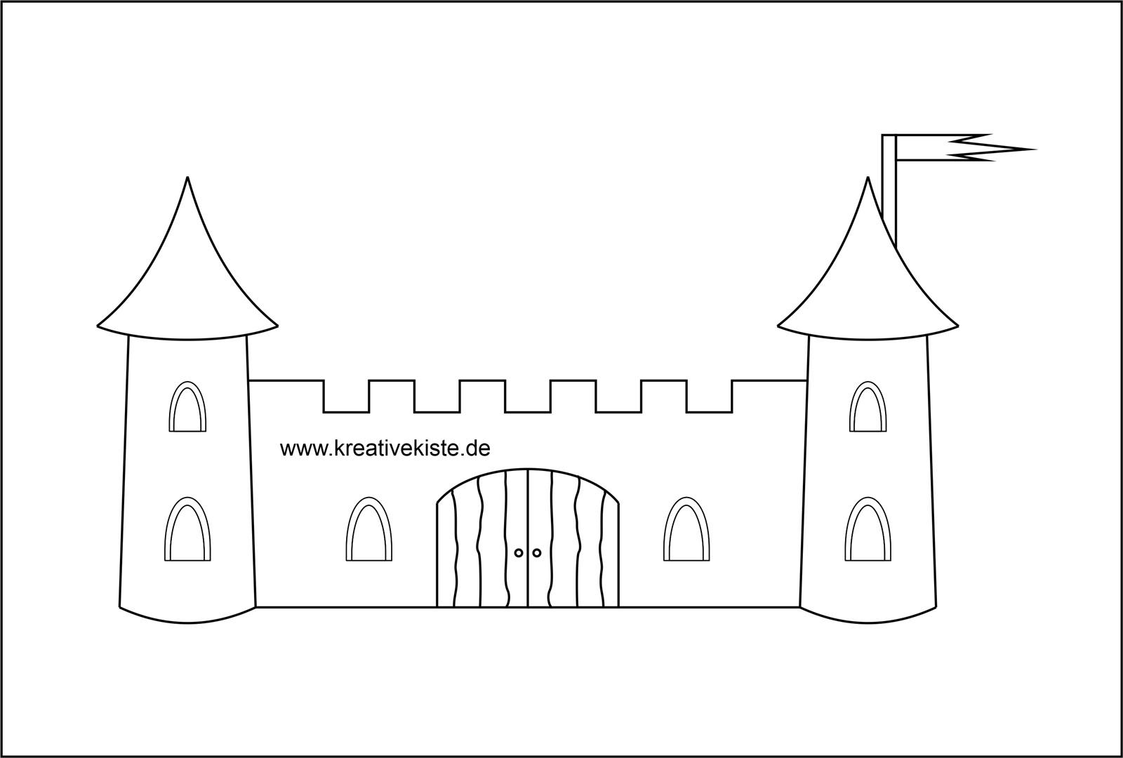 Pop Up Burg Vorlage Zum Ausdrucken Paper