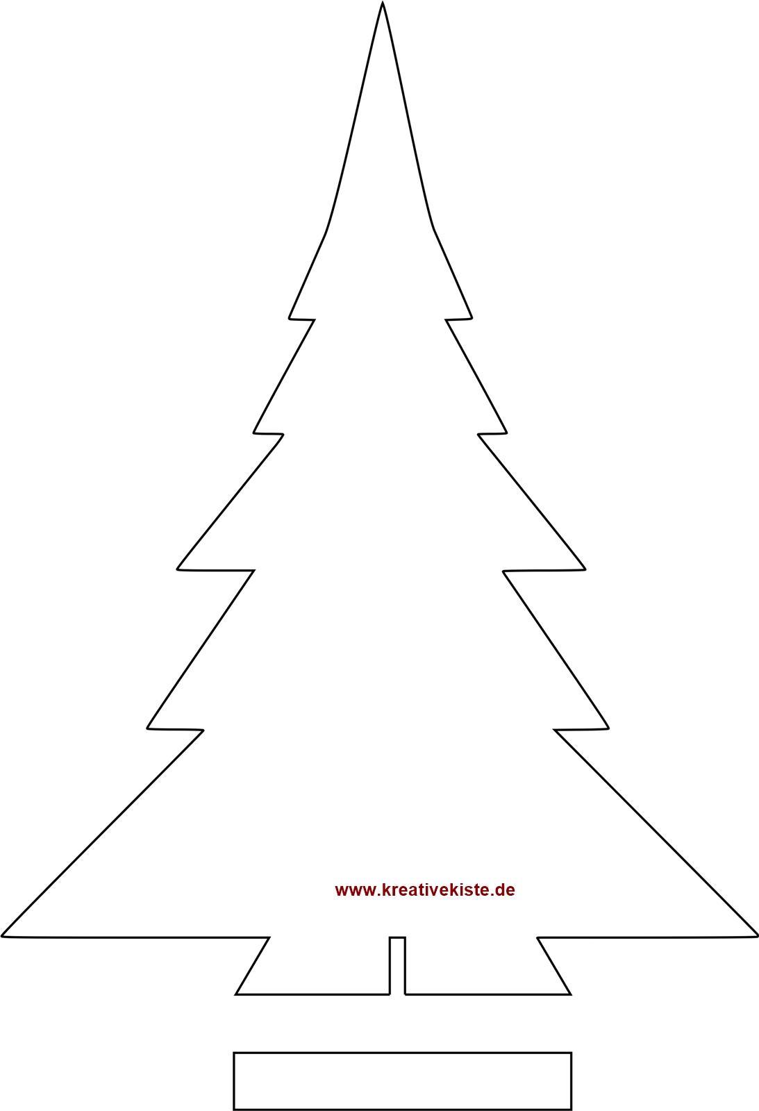 Schablone Weihnachtsbaum Zum Ausdrucken Schablone