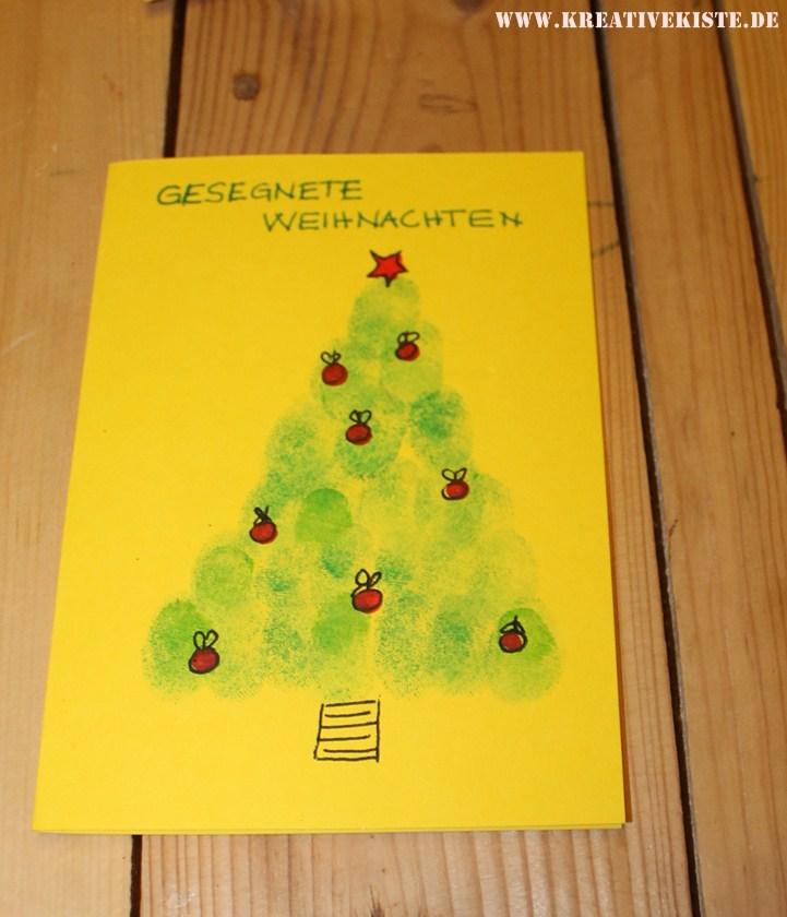 Weihnachtskarten Mit Fingerabdruck.Weihnachtskarten