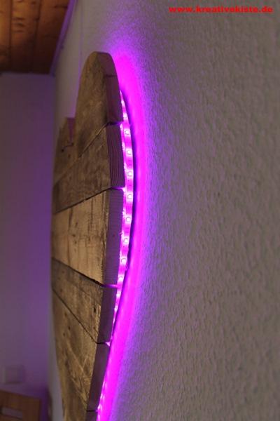Upcycling Led Holz Lampe