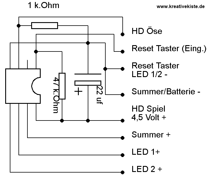hot wire game heisser draht led summer reset