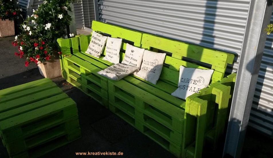 bank aus europalette bauen. Black Bedroom Furniture Sets. Home Design Ideas