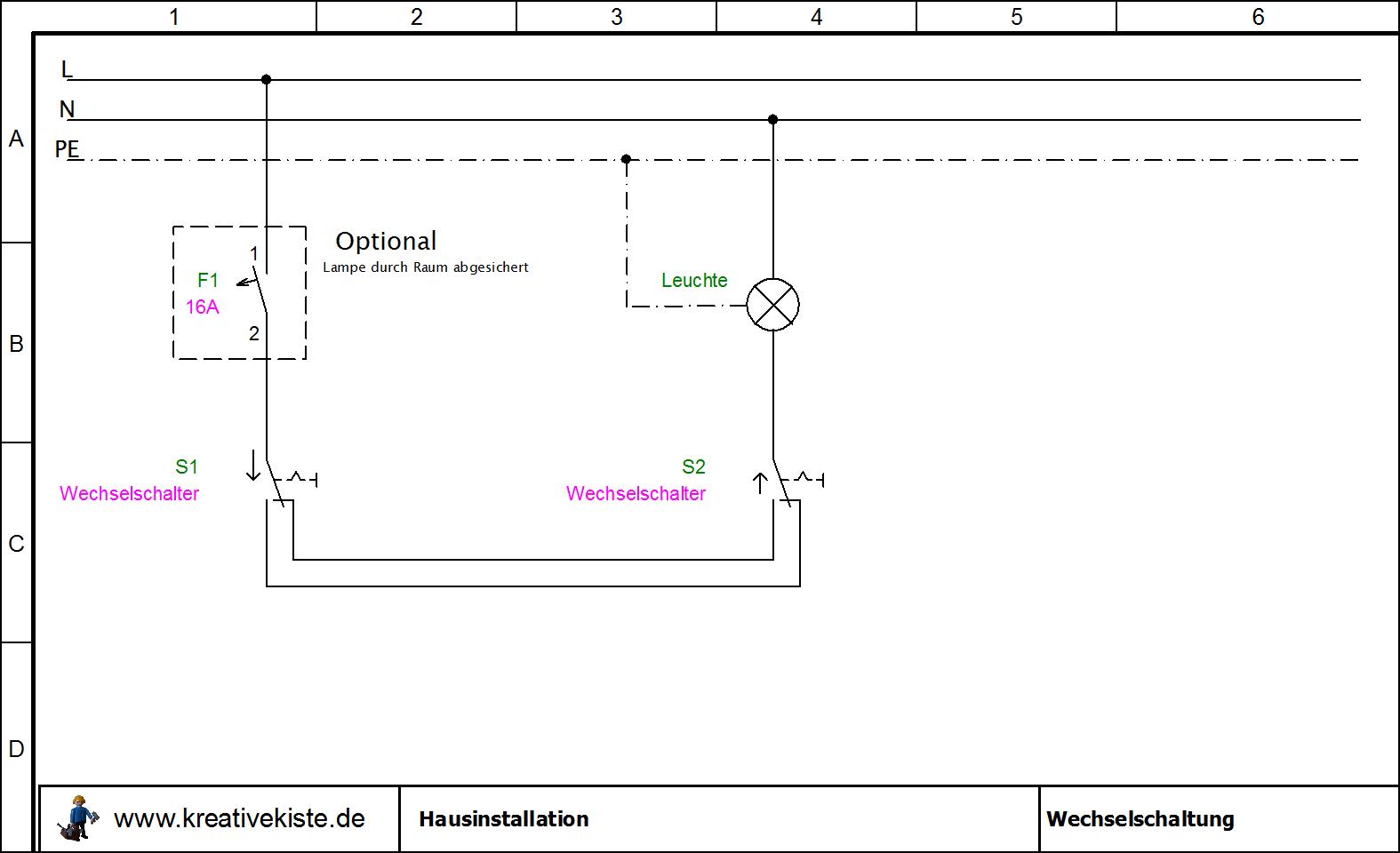 hausinstallation schaltpl ne. Black Bedroom Furniture Sets. Home Design Ideas
