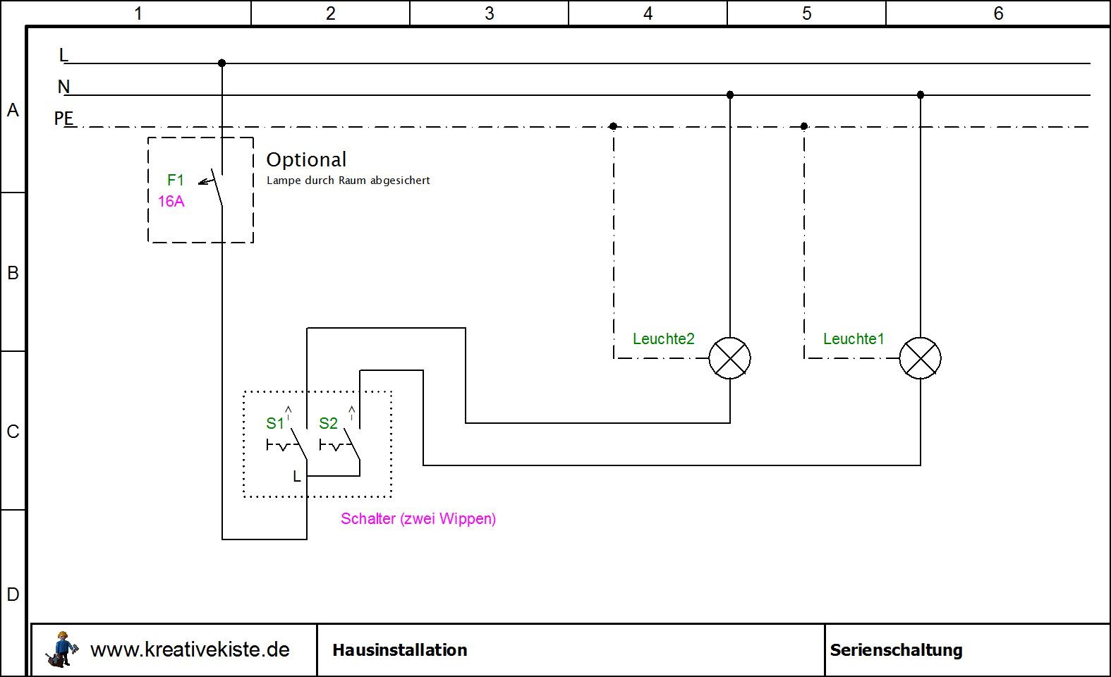 Sehr Hausinstallation Schaltpläne DL73